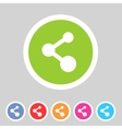 Share flat icon badge vector image