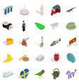 sight icons set isometric style vector image vector image
