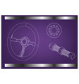 steering wheel bearing and bolt vector image