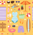 summer fashion beach sea time swimsuit clothes and vector image vector image