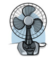 table fan ventilator vector image