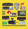 taximeter cab car fare taxi meter device vector image
