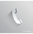 telephone flat icon design vector image vector image