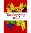 Thanksgiving Day meal abundance greeting banner vector image vector image