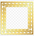 traditional vintage gold greek ornament meander vector image vector image
