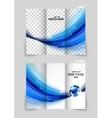 Tri-fold brochure template design vector image vector image
