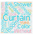 Without drapes is it curtains text background vector image vector image