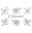 Clover Leaves Pictogram Set vector image