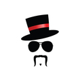 face with mustache silhouette vector image
