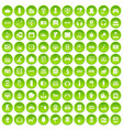 100 device app icons set green circle vector image vector image
