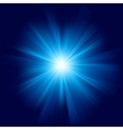 A Blue color design with a burst EPS 8 vector image vector image