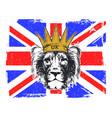 a english royal banner vector image