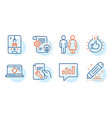analytical chat cogwheel and restroom icons set vector image vector image