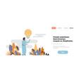 arabic businessman idea light lamp innovation vector image