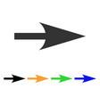 arrow axis x icon vector image vector image