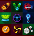 auto parts icons set flat style vector image