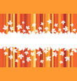 autumn leaf banner with border of maple foliage vector image vector image