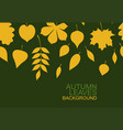 background of yellow autumn leaves vector image vector image