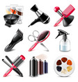 Barbershop icons set vector image vector image