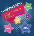 big sale banner and poster template design vector image