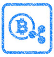 bitcoin and ripple framed stamp vector image vector image