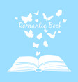 book with butterflies open textbook with vector image