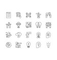 business solutions line icons signs set vector image vector image