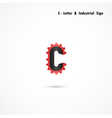 C-letter and gear icon vector image vector image