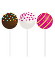 cake pops with sprinkles in vector image vector image