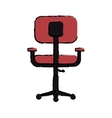 cartoon chair office comfort workplace design vector image