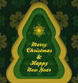 Christmas new year postcard template vector image vector image