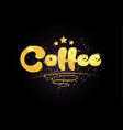 coffee star golden color word text logo icon vector image vector image