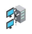 Computer network icon isometric 3d style vector image