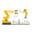 conveyor for assembly of cars element vector image vector image