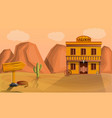 desert saloon concept banner cartoon style vector image