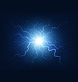 electric power explosion with electrical flash vector image