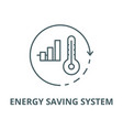 energy saving system line icon linear vector image vector image