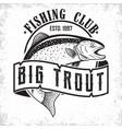 fishing club logo vector image vector image