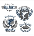 Fishing emblems badges and design elements vector image vector image