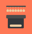flat icon on background poker pub bar vector image