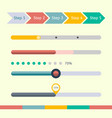 flat web design progress bars set vector image vector image