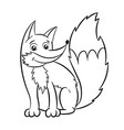 fox coloring book vector image vector image