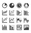 graph icon vector image vector image
