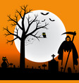halloween backgrond vector image vector image