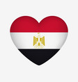 heart shaped national flag egypt i love my vector image vector image