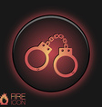 icon handcuffs symbol of justice police icon vector image