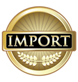Import Gold Label vector image vector image