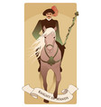 knight dressed in the old style with mustache and vector image vector image
