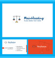 libra logo design with tagline front and back vector image vector image