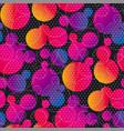 liquid lava lamp bubbles seamless pattern vector image vector image